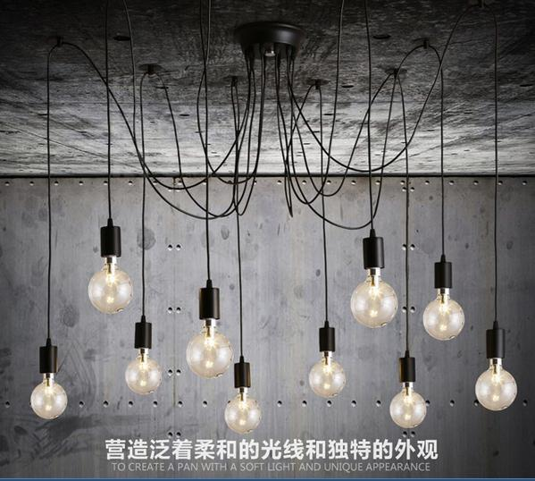 Classic Loft American Country Retro Spider Chandelier E27 AC 85V-240V 1 400 jinair 777 200er hogan korea kim aircraft model