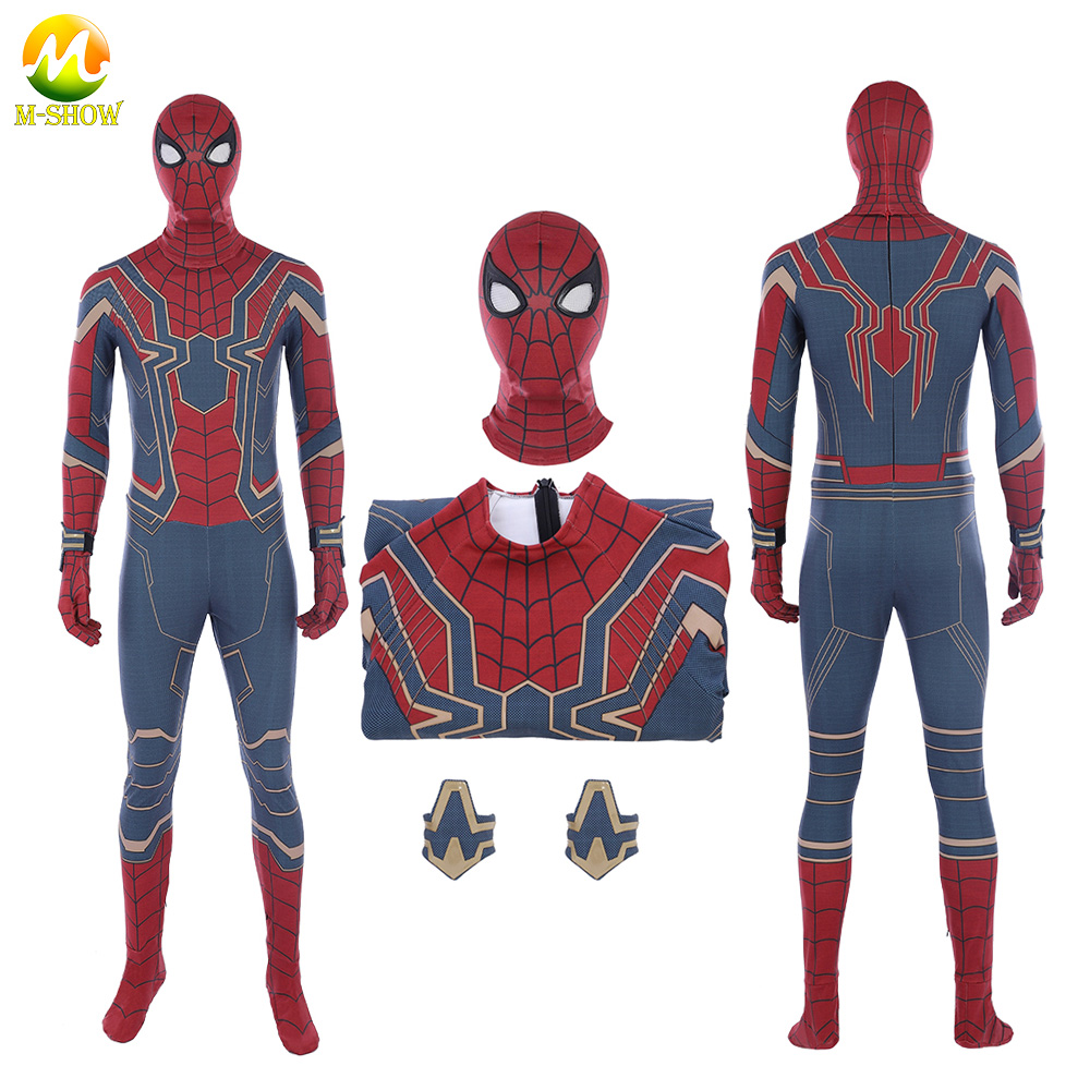 Promotion Avengers Infinity War Spider-man Cosplay Costume Superhero Peter Parker Cosplay Costume For Halloween