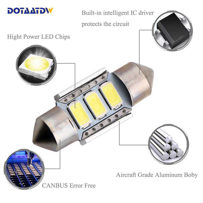 1x CANbus LED 36 มม.C5WหลอดไฟทะเบียนใบอนุญาตใบอนุญาตสำหรับAUDI A4 A2 A3 8L 8P B5 B6 A6 4B A8 D2 TT Q7 4F
