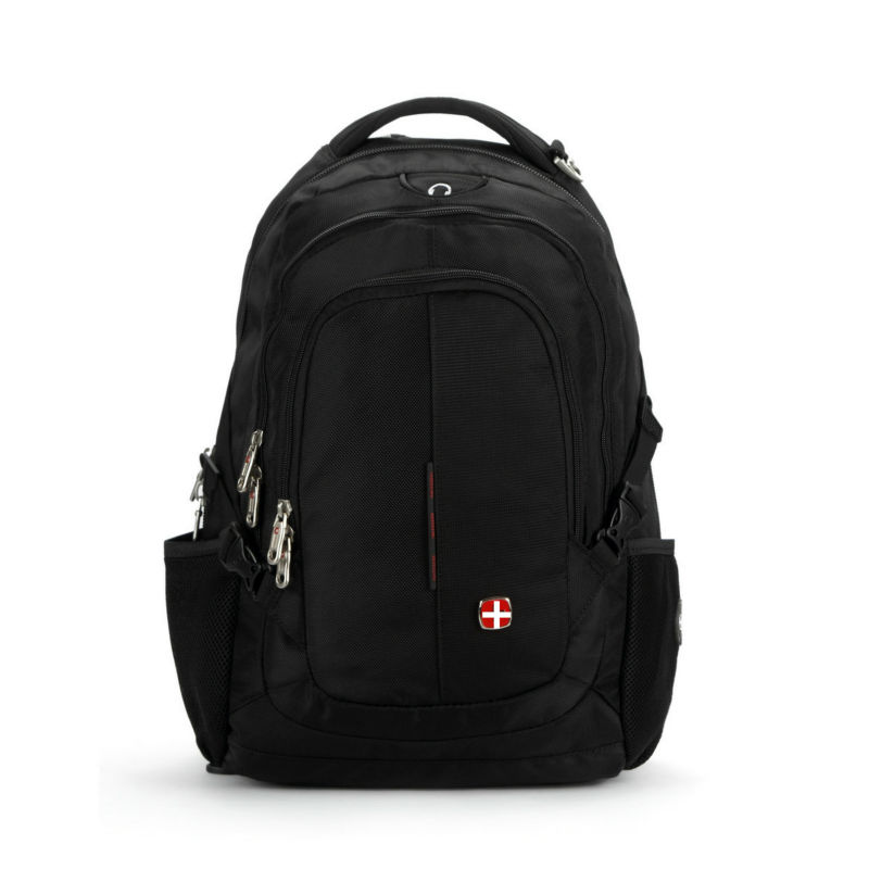 ФОТО Swiss Quality Fashion Backpack Laptop Man Woman Notebook PC Bag Student Rucksack Daily Fashion Classic Black Color Waterproof