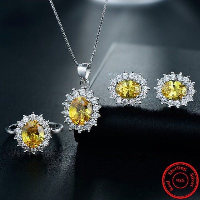 7 Color Classic Real Sterling Jewelry Sets