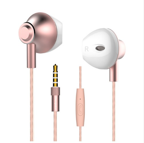 Langsdom Alloy Earphones M420 Volume Control Bass wire Headset Stereo Earphone for gaming headset sports music with Microphones