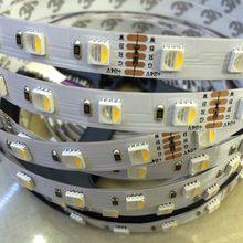 Tira de luces led RGBW, 4 colores en 1, resistente al agua, 24V, 12V, 5050 smd, 60LED/m, 5m/rollo, RGBW, Envío Gratis