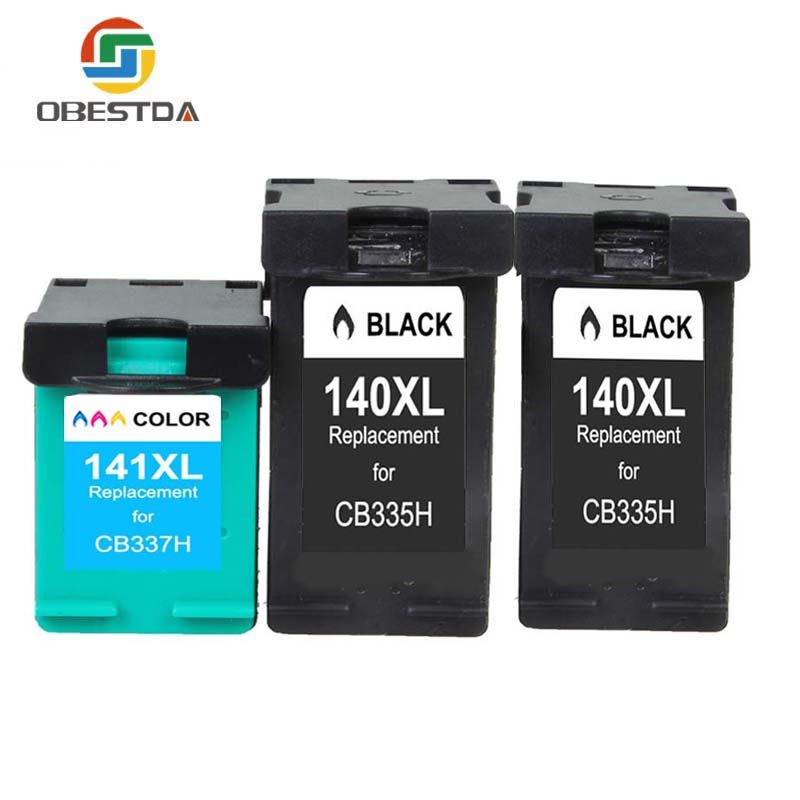 Obestda Ink Cartridges for <font><b>HP</b></font> 140XL 141XL <font><b>140</b></font> <font><b>141</b></font> Photosmart C4283 C4480 C4583 C4483 C5283 D5363 OfficeJet J5783 J6405 J6410 image