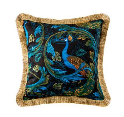 Luxury Peacock Cushion Cover Mawgie