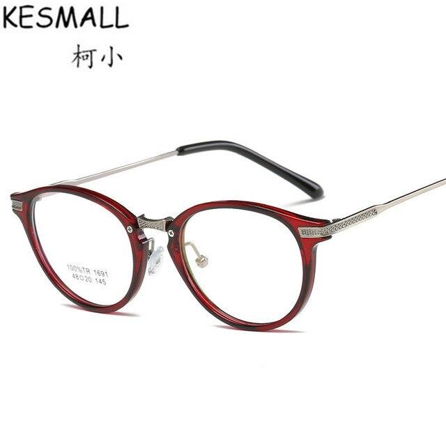 KESMALL TR90 Bingkai Kacamata Wanita Pria Busana Polos Kacamata Lensa  Kacamata Transparan Bingkai Hitam Frame Marcos c13034e816