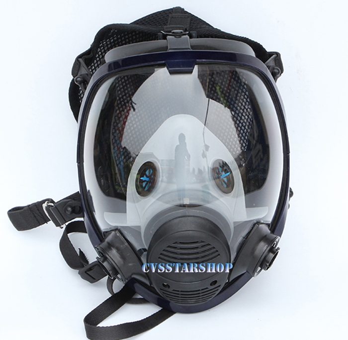 Chemcial Painting Spraying Gas Mask Same For 3M 6800 Gas Mask Industry Full Face Facepiece Respirator Free Shipping chic women s bleach wash palazzo jeans