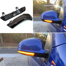 Smoked For Vw Golf 5 Gti V Mk5 Jetta Passat B5.5 B6 Sharan Superb Eos Dynamic Led Turn Signal Light Side Wing Mirror Indicator mzorange car light smoke side wing review mirror turn signals lights lamp for vw for passat b5 b6 for golf 5 car styling
