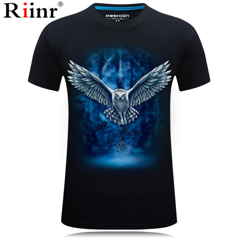 3D Owl Print T shirt Men/Women 2019 Hot Sale Animal Print Fly Owl Short Sleeve Summer Tops Tees Tshirt Male 5XL