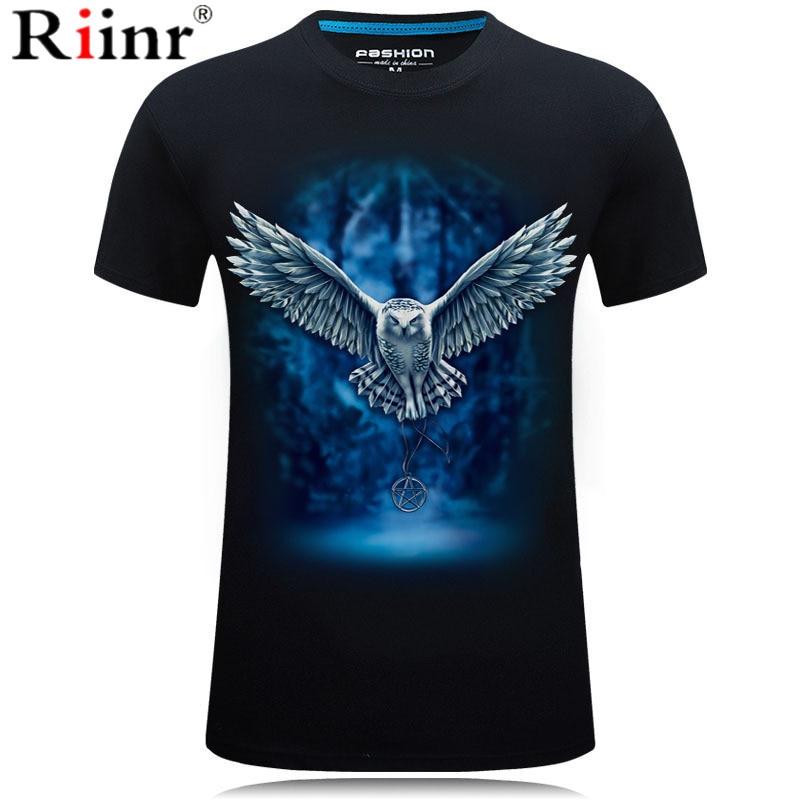3D Owl Print T shirt Men/Women 2019 Hot Sale Animal Print Fly Owl Short Sleeve Summer Tops Tees Tshirt Male 5XL