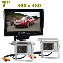 DIYKIT IR Night Vision CCD Rear View Car Camera White + 7 inch HD TFT LCD Car Monitor Reverse Rear View Monitor Screen
