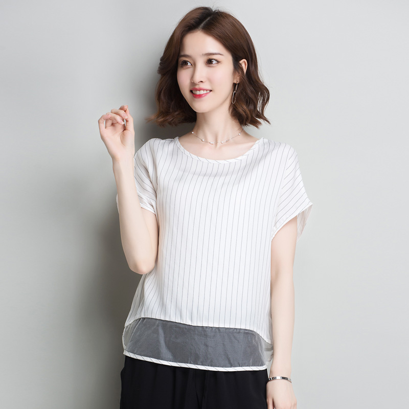 Blouses & Shirts Original Design Chinese Style Summer 2019 Retro Improvement Cheongsam Cardigan Asymmetric Loose Copper Ammonia Big Shirt D542