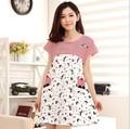 100% Cotton  nightshirts for women Sleepwear  Dress Short Sleeve Nightgown Nightwear vestido pijama mulher