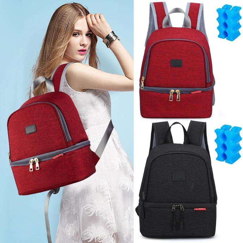 Fashion Multifunctional Mommy Travel Backpack Ice Pack Heat Preservation Newborn Baby Care Diaper Bag Infant Nappy Organizer Bag