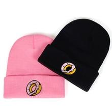 new Women's Casual Winter hat Men Knit Plus Cotton Cap Unisex Adult Donut Skullies