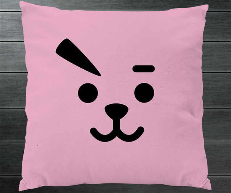 98f80a7eea70 ... Kpop BTS BT21 TATA SHOOKY RJ KOYA CHIMMY COOKY MANG VAN Fanart Cute Pillowcase  Pillow Case ...