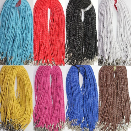 20pcs Leather Braid Rope Hemp Cord Lobster Clasp Chain Necklace Bracelet DIY 18inch органайзер jettools jt1602321