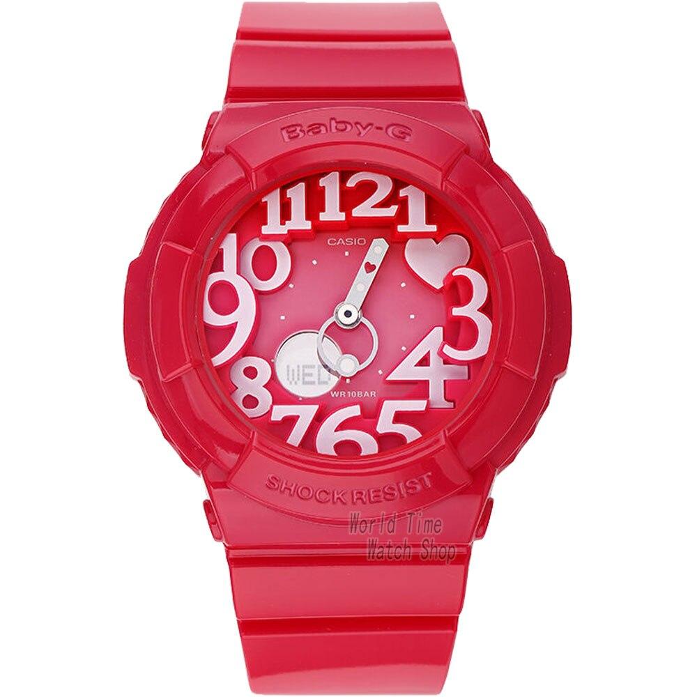 Casio watch Fashion trend double explicit student electronic watch ladies watch BGA-130-1B BGA-130-2B BGA-130-4B BGA-130TR-7B  casio watch sweet fashion sports female student watch lx 500h 1b 1e 4e 7b2