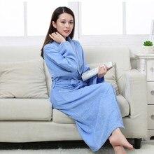 Халат хлопковый махровый для мужчин и женщин, всесезонный банный халат для пар, мягкая дышащая впитывающая одежда для сна, ночная рубашка