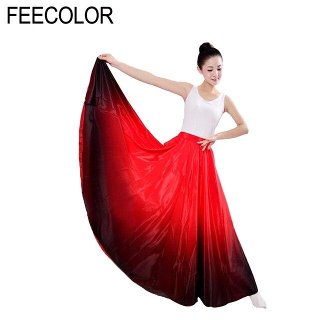 885c0531c FEECOLOR baile Flamenco falda danza para las mujeres vestido flamenco 360  grados TF001