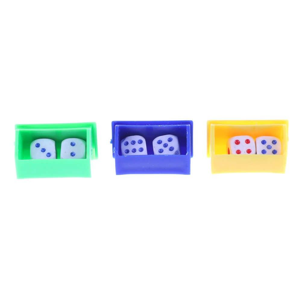 1 Juego de juguetes mágicos para niños de Color divertido al azar de escucha, accesorio dado de magia, trucos de magia, dados