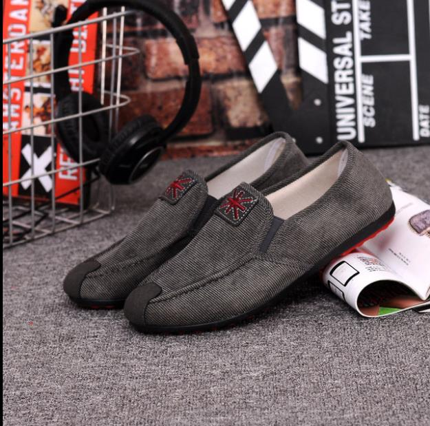 Classic old Beijing cloth shoes men s shoes spring and summer lazy shoes low upper breathable