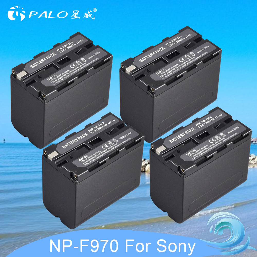 4pcs Replacement Li-ion Battery For Sony 7.2V 7200mAh Rechargeable Digital Battery NP F960 F970 for Sony NP-F960 NP-F970 Camera4pcs Replacement Li-ion Battery For Sony 7.2V 7200mAh Rechargeable Digital Battery NP F960 F970 for Sony NP-F960 NP-F970 Camera