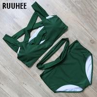 RUUHEE Bikini Swimsuit Swimwear Women Bikini Set Bathing Suit 20178 Female Beachwear With Pad Swimming Suit