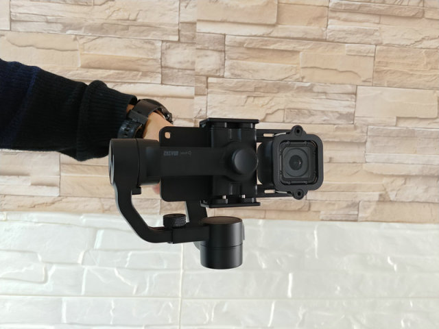 Gopro gimbal adapter : Adapter mount clip for gopro session for gimbal zhiyun smooth q