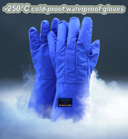 -250 degree hypothermia Protective gloves Cold protection waterproof Liquid nitrogen protection safety gloves Frostbite gloves