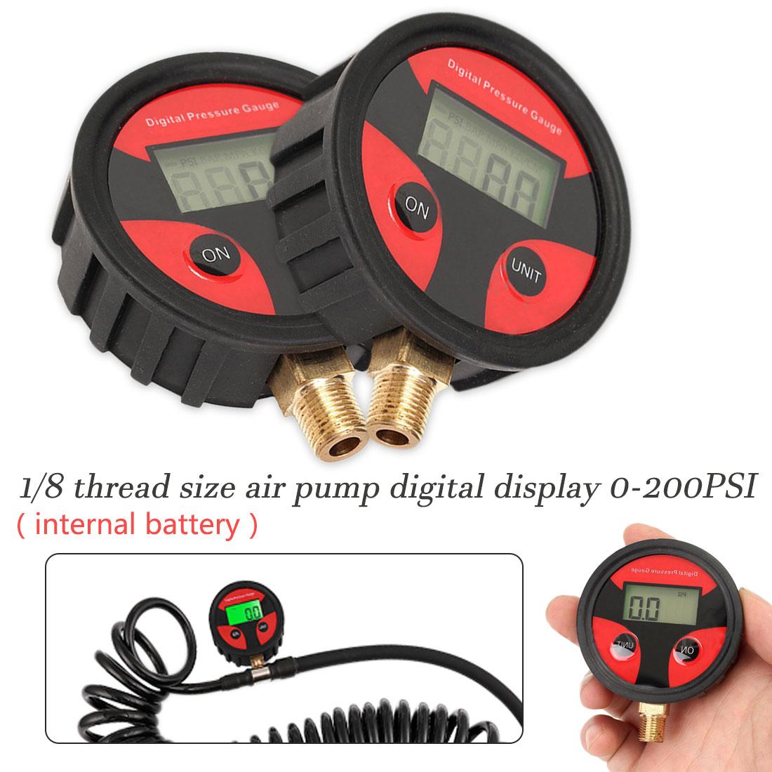 Digital Display Tire Pressure Gauge 0-200PSI Inflatable Pump Digital Display Truck Tire Pressure Gauge Tire Air Pressure