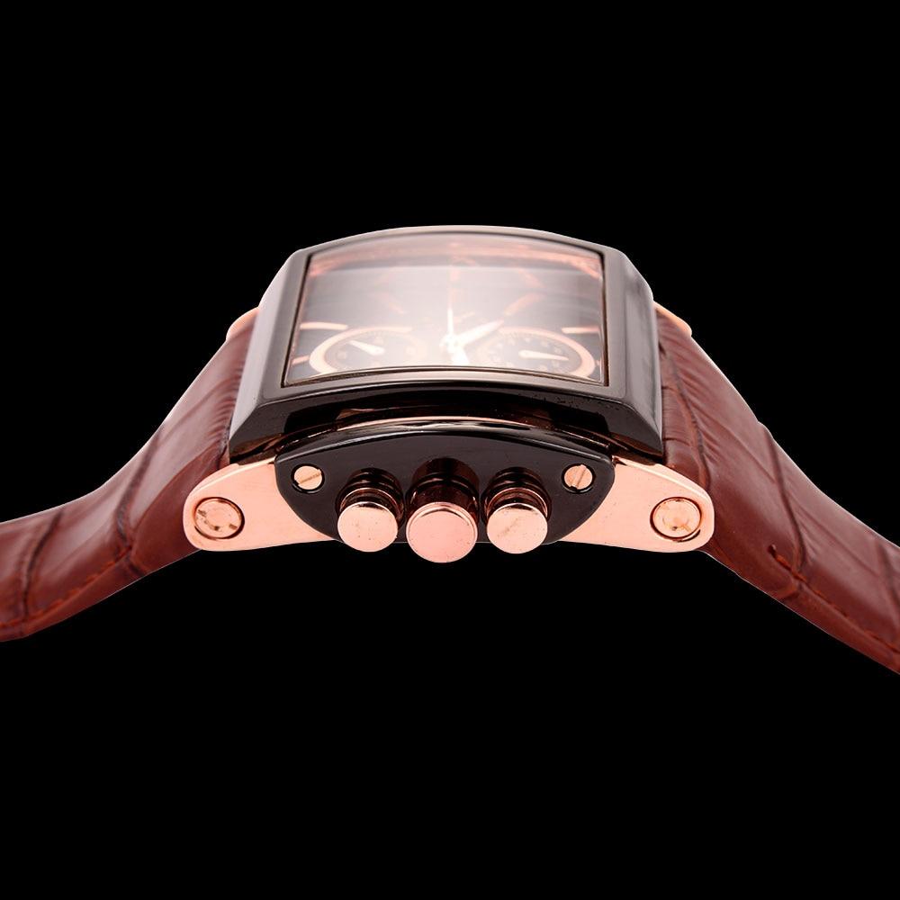 Image 2 - BOAMIGO men quartz watches brow leather strap auto date clock male fashion casual analog big man wristwatches relogio masculino-in Quartz Watches from Watches
