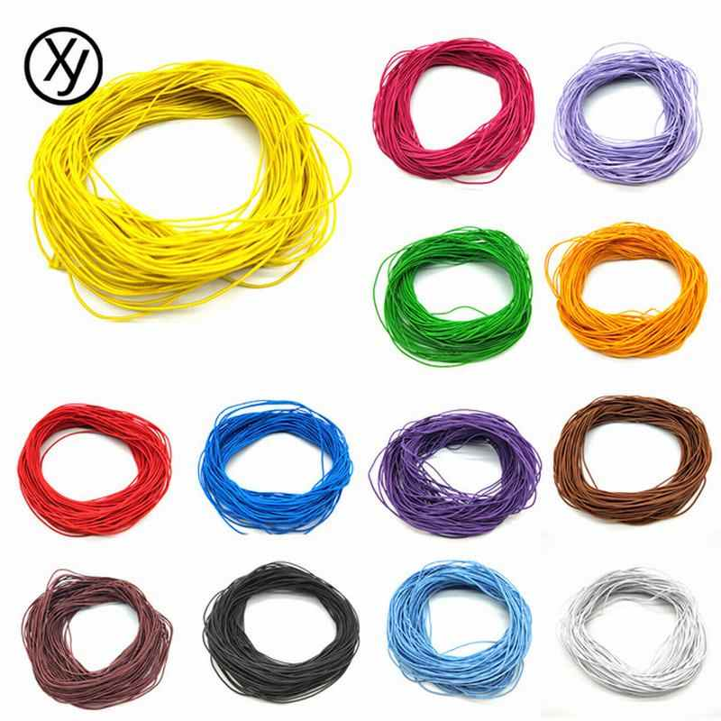 Necklace Jewelry Making DIY 24m*1mm Cheap Findings Beads Jewelry Core Elastic Rope Stretch Rubber Line Beading Cord For Bracelet