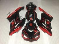 Injection molded bodywork fairings For Honda CBR1000RR 2004 2005 fairing kit black red Custom colors and name number DIY
