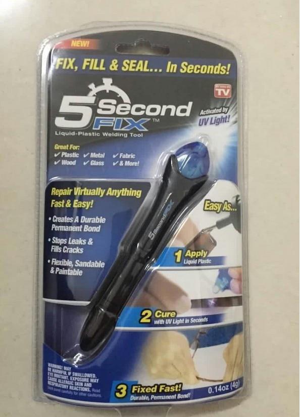 1pcs 5second fix, liquid plastic 5 seconds universal adhesive artifact UV glue hot