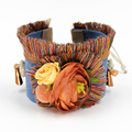 Fashion Bracelets Handmade Bohemian Colorful Tassel Flowers Jewelry Wide Friendship Bracelet for Woman FN033