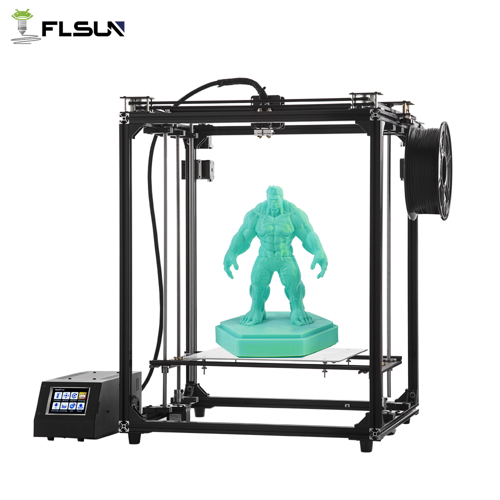 Flsun-G Pre-sales 3D Printer Large Printing Area 330*330*460mm High precision Touch Screen Dual Extruder 2018 flsun i3 3d printer diy kit dual nozzle touch screen large printing size 300 300 420mm two roll filament for gift