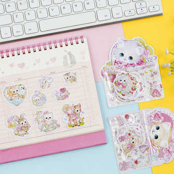 20packs/lot Kawaii cats flower Bronzing Paper Stickers DIY Diary Decoration Scarpbooking  Label Sticker - DISCOUNT ITEM  32% OFF All Category