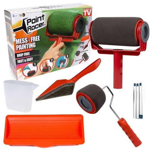 8pcs seamless paint roller pro brush set paint runner. Black Bedroom Furniture Sets. Home Design Ideas