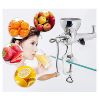Wheatgrass juicer stainless steel manual home use wheat grass slow juicer fruit vegetable juice extractor ZF