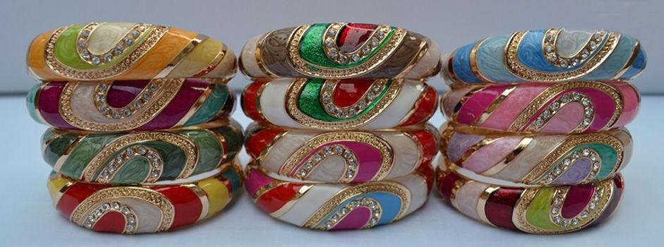 Wholesale10 Pc Charmant Chinois Fait Main En Émail Cloisonné Bracelet Manchette Bracelet
