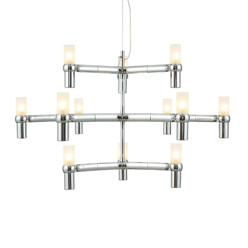 Post Modern Chandeliers Aluminum Crown MAJOR Design Duplex Villa Restaurant  Lighting Black/White/Chrome/Gold Branch Lamp Fashion In Chandeliers From  Lights ...