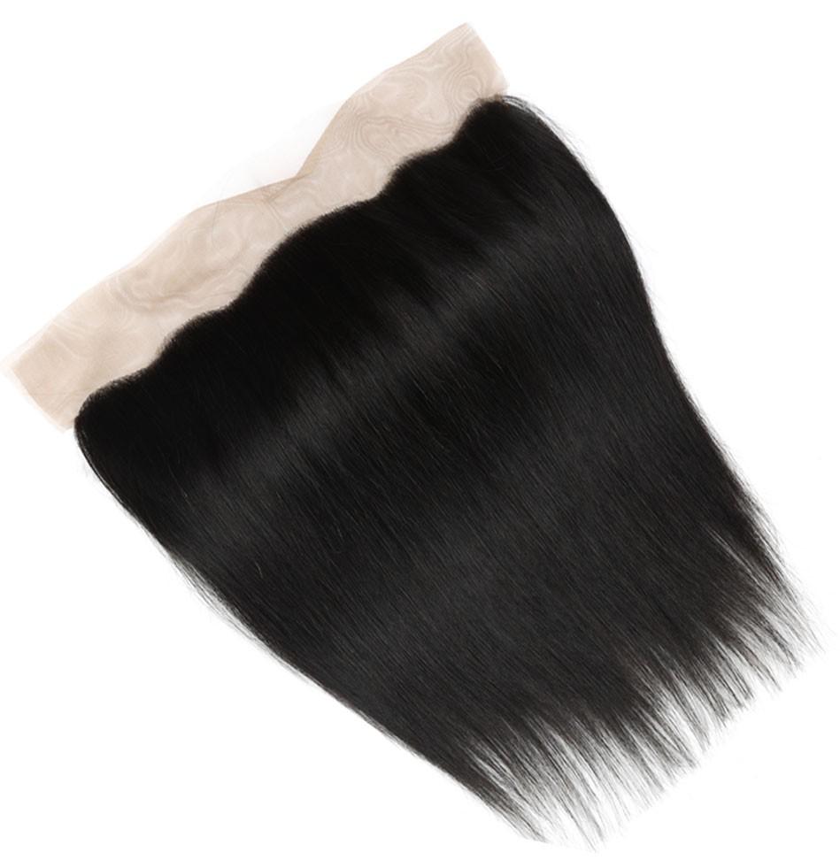 straight human hair frontal