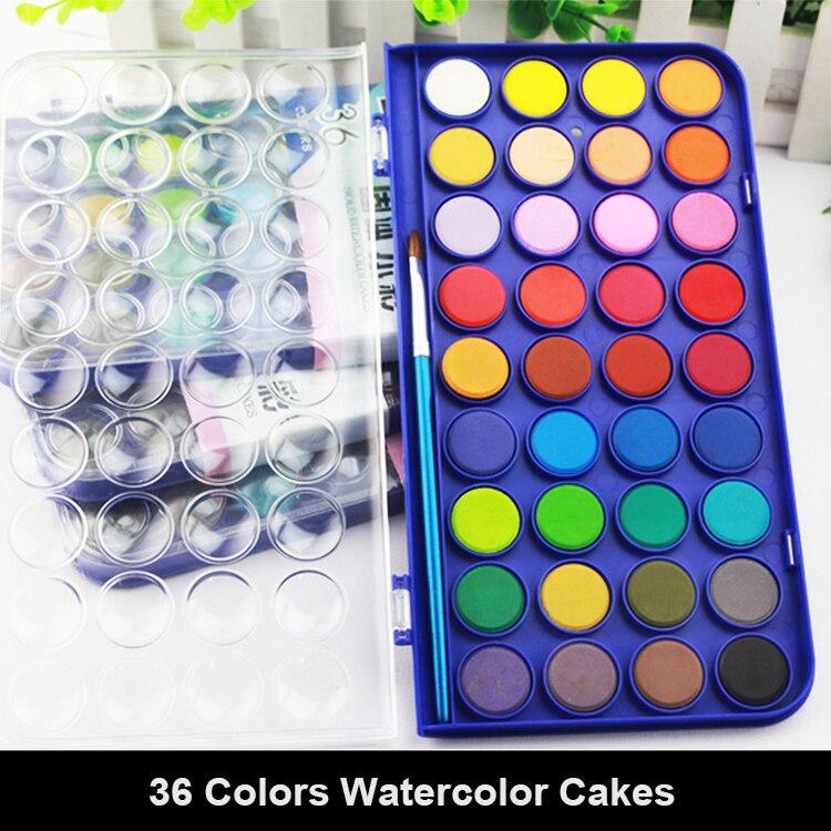36 Renk Katı Guaj Boya Seti Ile çocuklar Için Durumunda Su Renk Toz