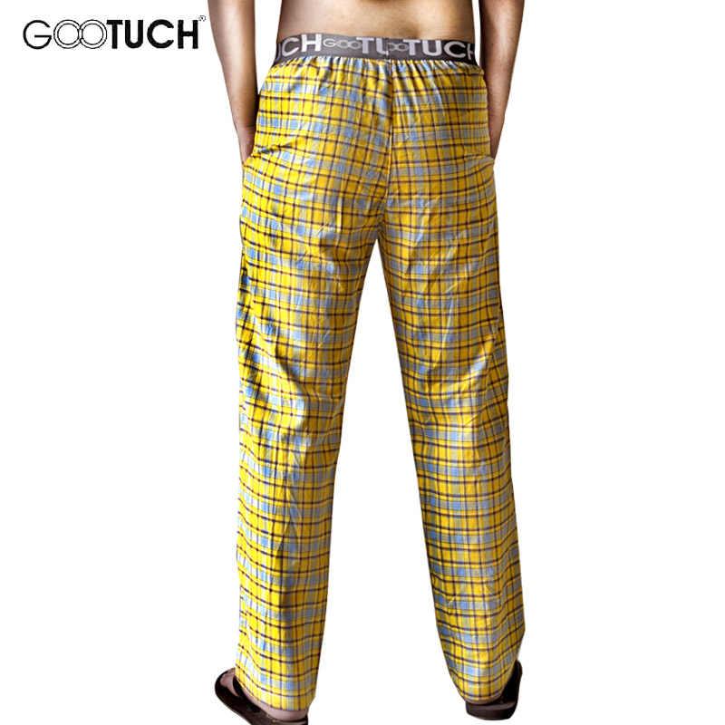 Мужская клетчатая одежда для сна пижамные штаны хлопковое нижнее белье Piyamas Домашняя одежда Мужчины Отдых удобные брюки Pantalon 2505