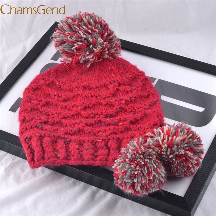 2017 A# Shocking Show Women Fashion Keep Warm Winter Hats Knitted Wool Hemming Hat A#487
