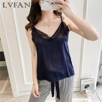 Emulation Silk Women Sexy Halter Pajamas for Autumn Ladies Ice Silk Residence Breathability Home Sleep Wear Set AR L016