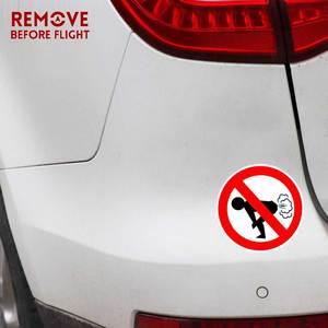 Image 4 - سيارة ملصقات سيارة التصميم لا يضرطن سيارة ملصقا مضحك الحمار PVC صائق الوقود غيج فارغة ملصقات الفينيل 12 سنتيمتر * 12 سنتيمتر