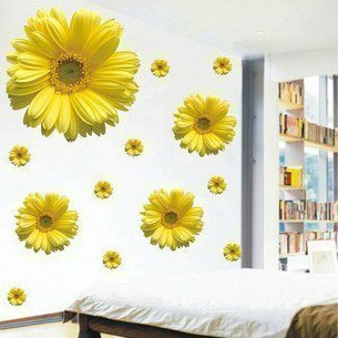1set High Quality 3D Flower Sticker For Bedroom Decor ...