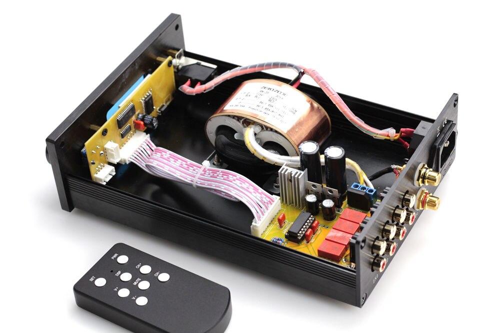 HIFI PGA2311 télécommande contrôle du Volume préamplificateur stéréo préampli avec entrées 4 voies - 4
